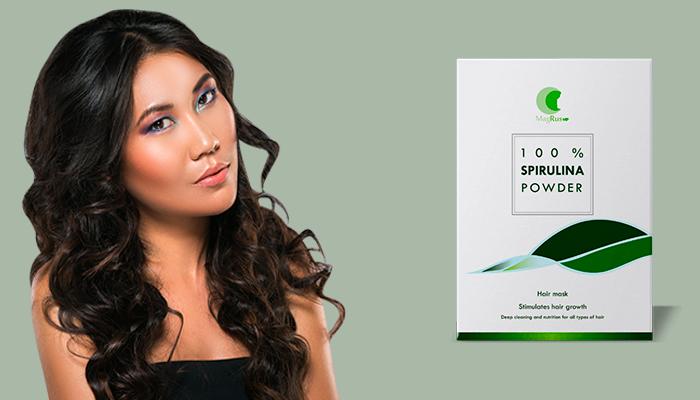 Spirulina mask untuk pertumbuhan rambut: mengisi rambut dengan kekuatan dan kecantikan