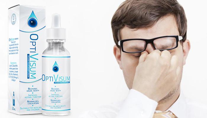 OptiVisum: menghilangkan setiap simptom penyakit mata dan memulihkan penglihatan!