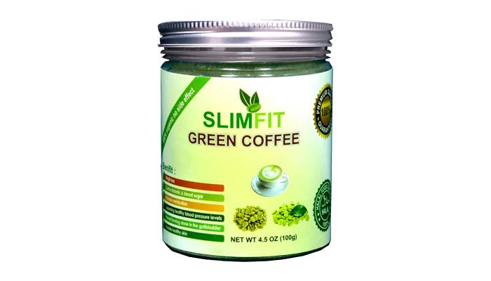 Slimfit Green Coffee untuk penurunan berat badan: mengurangkan lemak badan pada badan